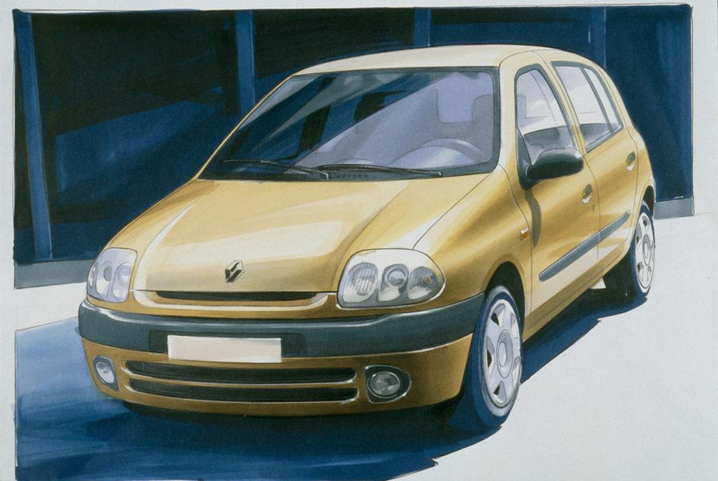De Clio II uit 1997